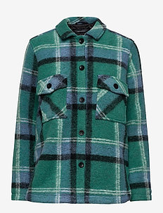 W Kelly Shirt Jacket Tricolour - wool midlayer - combination