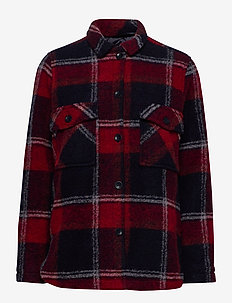 W Kelly Shirt Jacket Tricolour - wool midlayer - tricolour