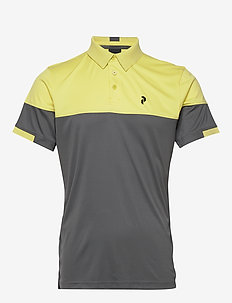Player Block Polo Men - paidat - sunny yellow