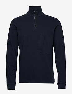 M Extended Half Zip - sweaters - blue shadow