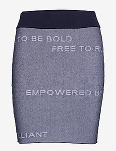 W Jaquard Skirt - sports skirts - blue shadow