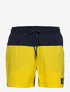 M Swim Shorts Blocked - uimashortsit - stowaway yellow