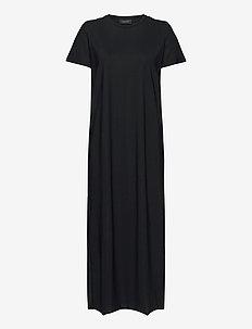 W Sense Tee Dress - sportklänningar - black