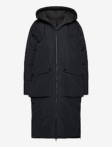 W Stella Coat Black - down jackets - black