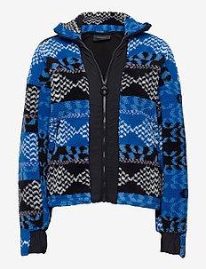 W Original Pile Zip AW Pattern - mellomlag i fleece - pattern