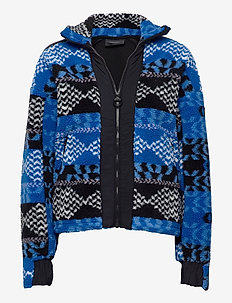 W Original Pile Zip AW Pattern - fleece midlayer - pattern
