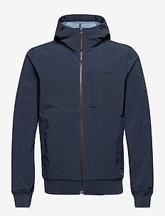 M Softshell Hood Jacket - ulkoilu- & sadetakit - blue shadow   dark haze