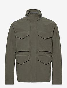 M Softshell Field Jacket - ulkoilu- & sadetakit - black olive   deep earth