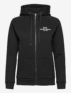 W Original Zip Hood - hoodies - black
