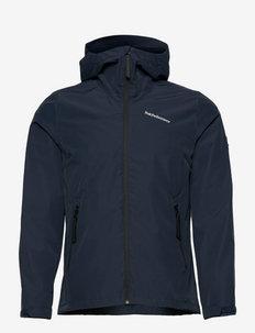 W Coastal Jacket - wandel- en regenjassen - blue shadow