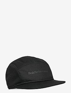 5 Panel Cap - casquettes - black