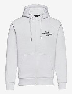 M Original Zip Hood - hupparit - white