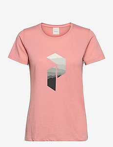 W Explore Big P Tee - t-shirts - warm blush