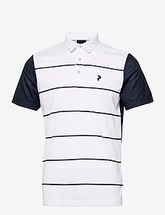 M Bandon Print Polo - kortærmede - white   blue shadow