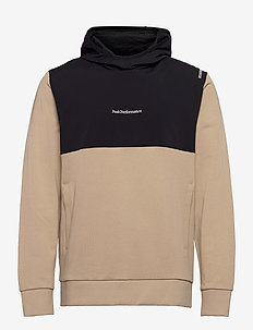 M Stowaway Hood - perus-college-paitoja - celsian beige   black