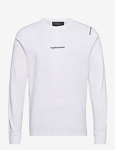 M Stowaway LS Tee - pitkähihaiset topit - white