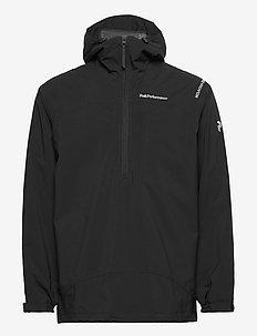 M Stowaway Anorak - ulkoilu- & sadetakit - black