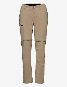 W Iconiq Zip Off Pant - wandelbroeken - true beige