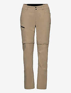 W Iconiq Zip Off Pant - friluftsbukser - true beige