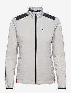 W Canyata Wind Jacket - golf jackets - antarctica   deep earth