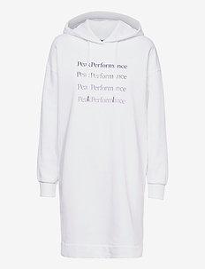 W Ground Hood Dress - vapaa-ajan mekot - white
