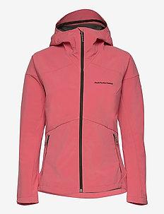 W Adventure Hood Jacket - ulkoilu- & sadetakit - alpine flower
