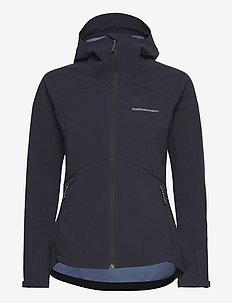 W Adventure Hood Jacket - wandel- en regenjassen - blue shadow