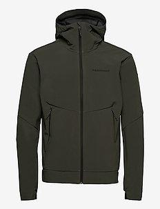 M Adventure Hood Jacket - sports jackets - black olive