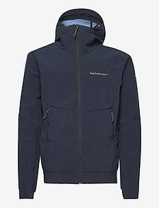 M Adventure Hood Jacket - ulkoilu- & sadetakit - blue shadow