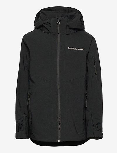 Jr Maroon Jacket Black - vestes - black