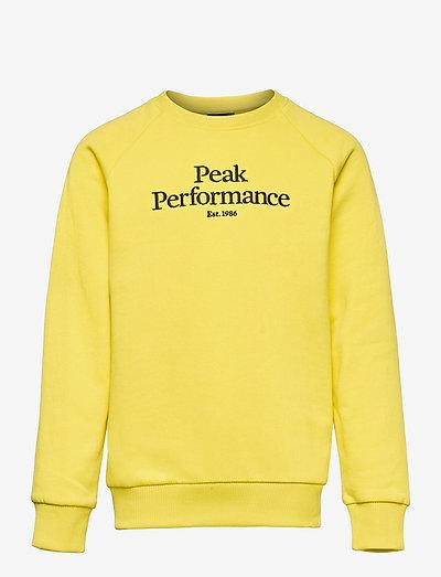 Jr Original Crew - sweaters - citrine