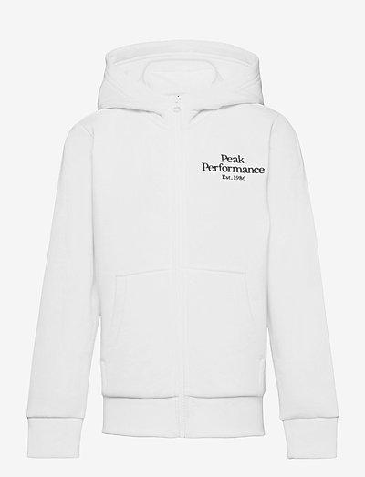 Jr Original Zip Hood - hupparit - white