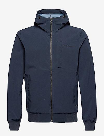 M Softshell Hood Jacket - vestes d'extérieur et de pluie - blue shadow   dark haze