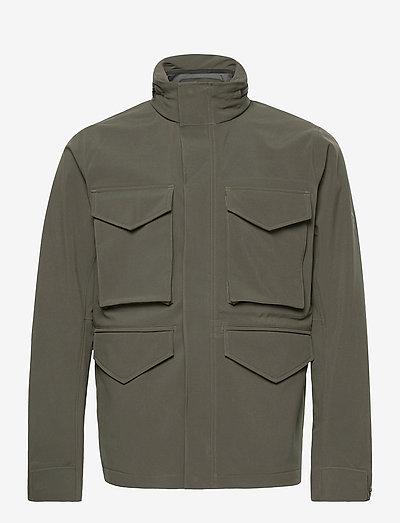 M Softshell Field Jacket - vestes d'extérieur et de pluie - black olive   deep earth