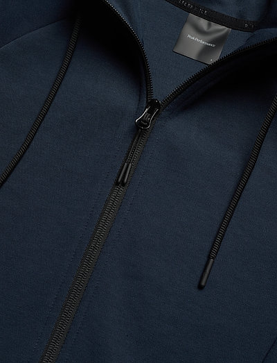 Peak Performance W Tech Zip Hood- Sweatshirts Blue Shadow