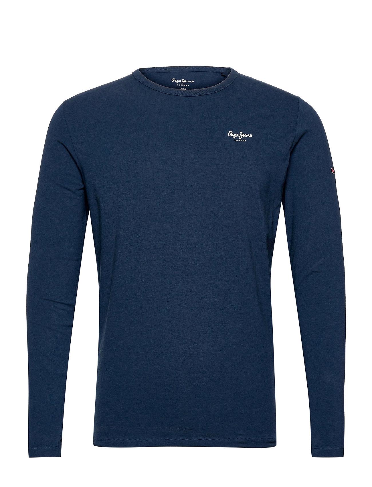 Original Basic 2 Long T-Langærmet Skjorte Blå Pepe Jeans London