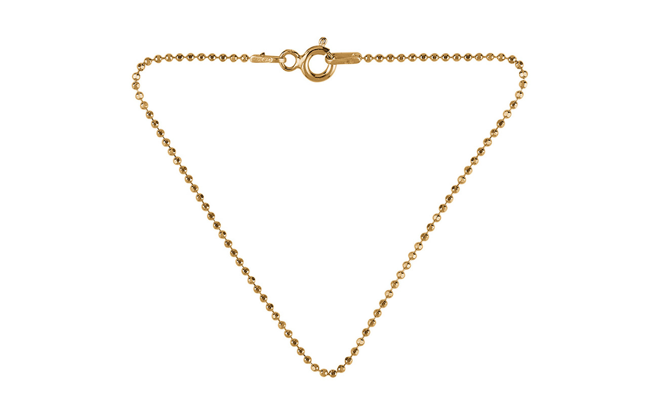 Pernille Corydon Facet Plain Bracelet 18 cm - GOLD PLATED