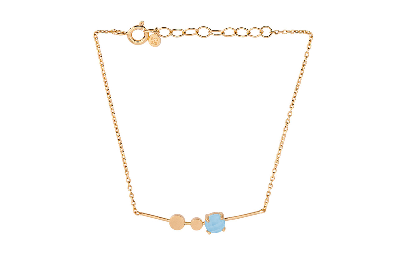 Pernille Corydon Glacier Bracelet Blue Adj. - GOLD PLATED