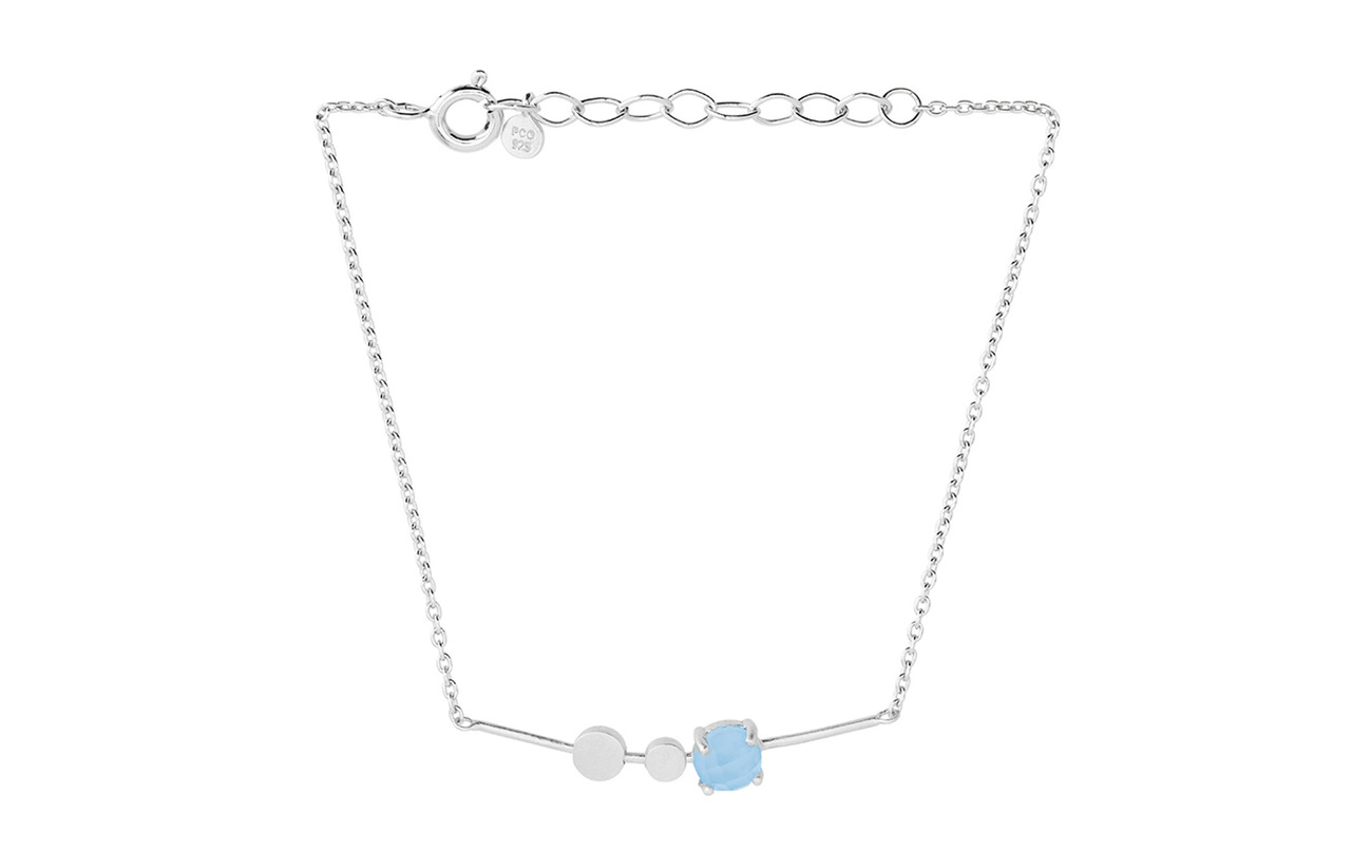 Pernille Corydon Glacier Bracelet Blue Adj. - SILVER
