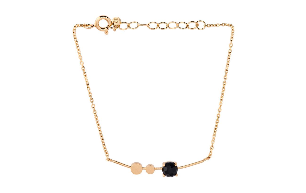PlatedPernille Onyx Lave Black Bracelet Corydon Adjgold 76gvYfby