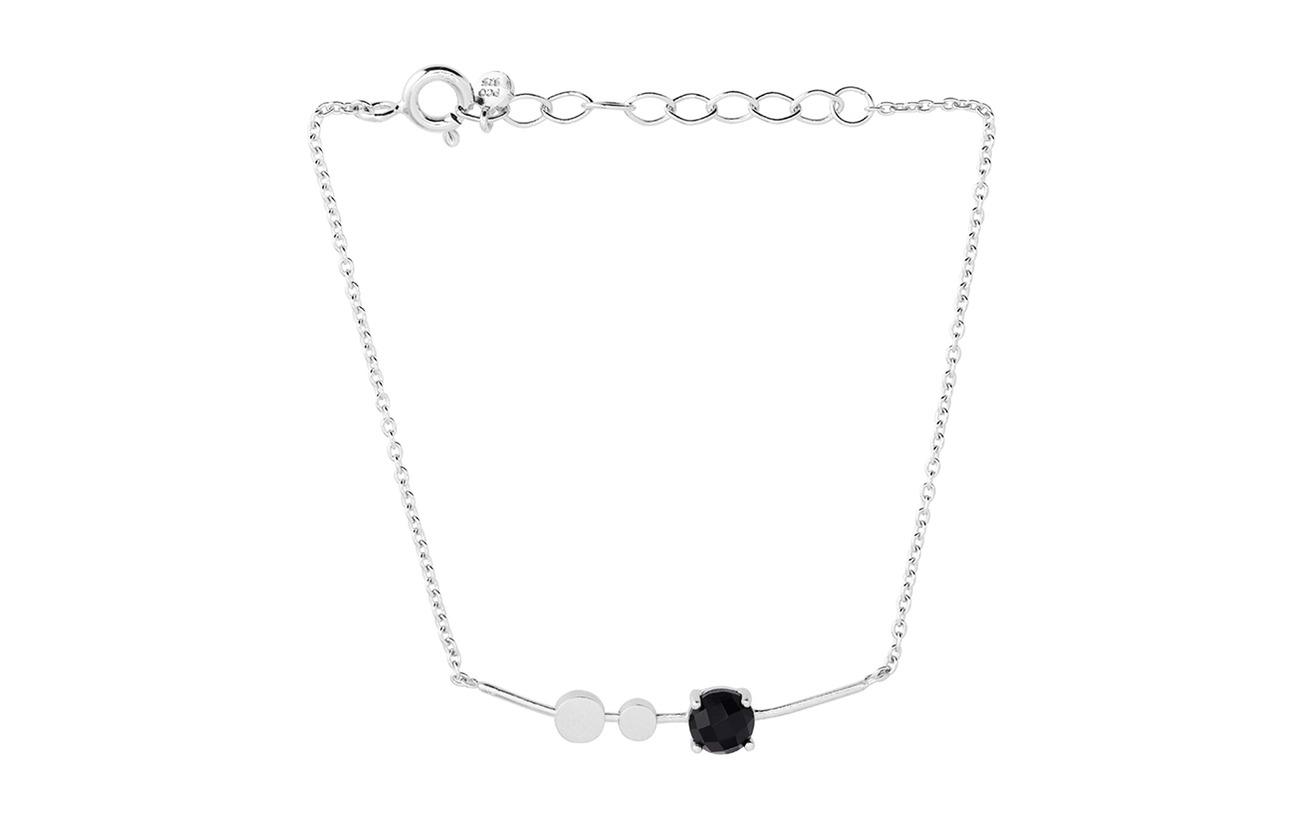 Pernille Corydon Lave Bracelet Black Onyx Adj - SILVER