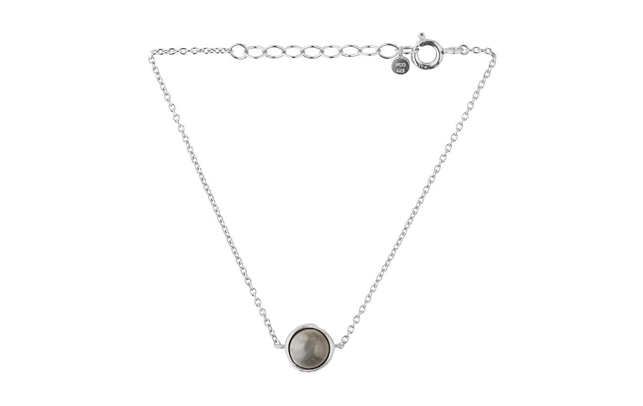 Pernille Corydon Aura Grey Moonstone Bracelet Adj. - SILVER