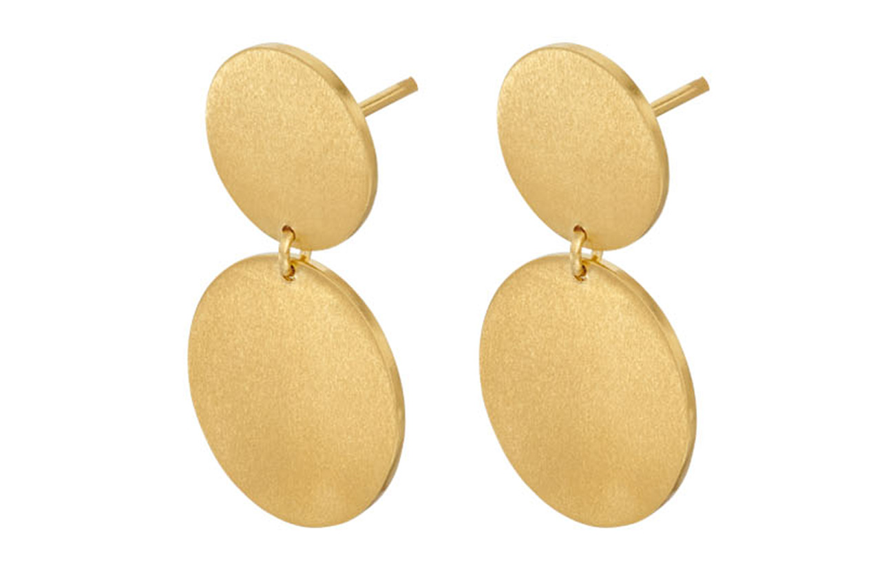 Pernille Corydon Afterglow Earsticks Size 22 mm - GOLD PLATED