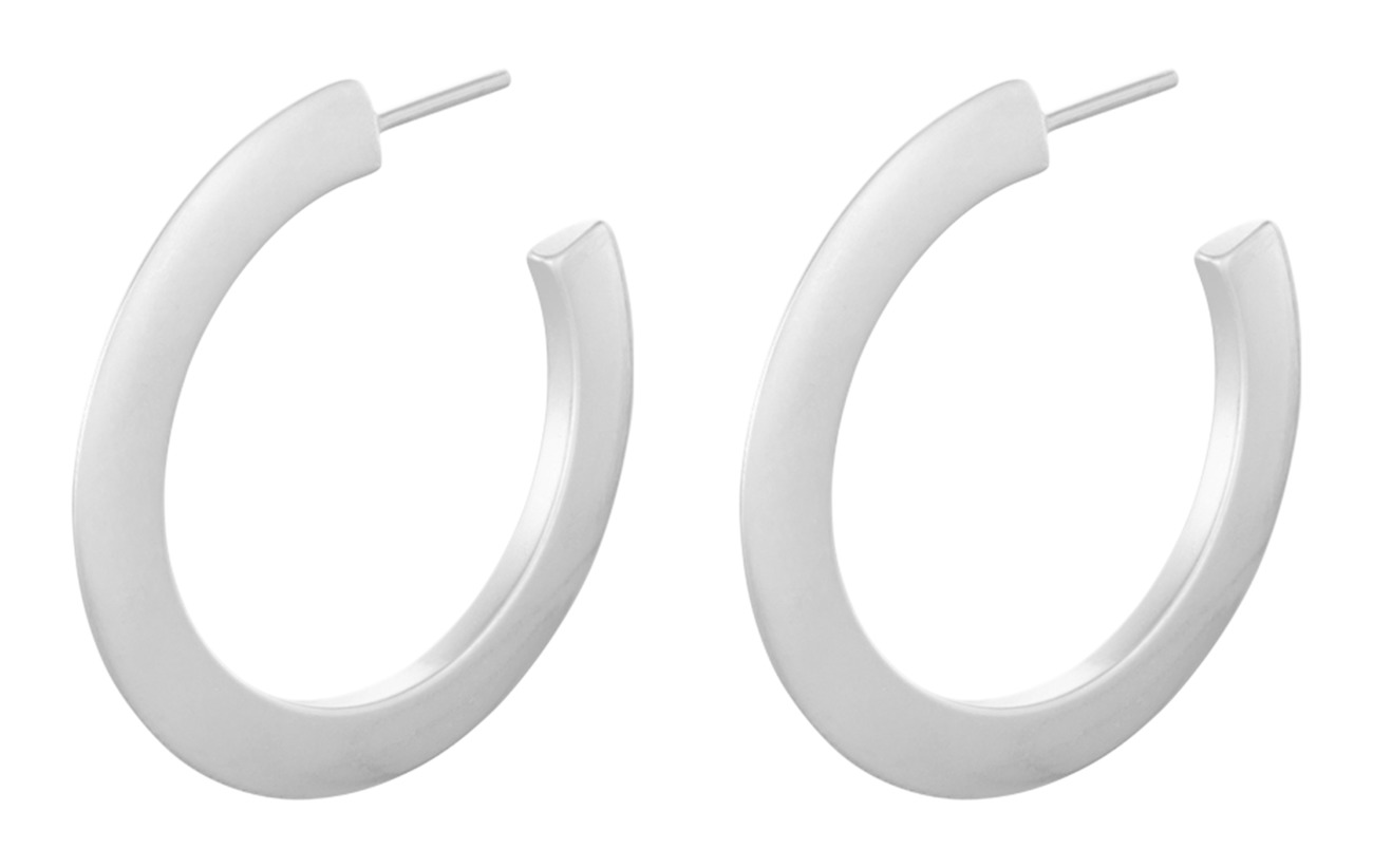 Pernille Corydon Small New York Hoops size 30 mm - SILVER