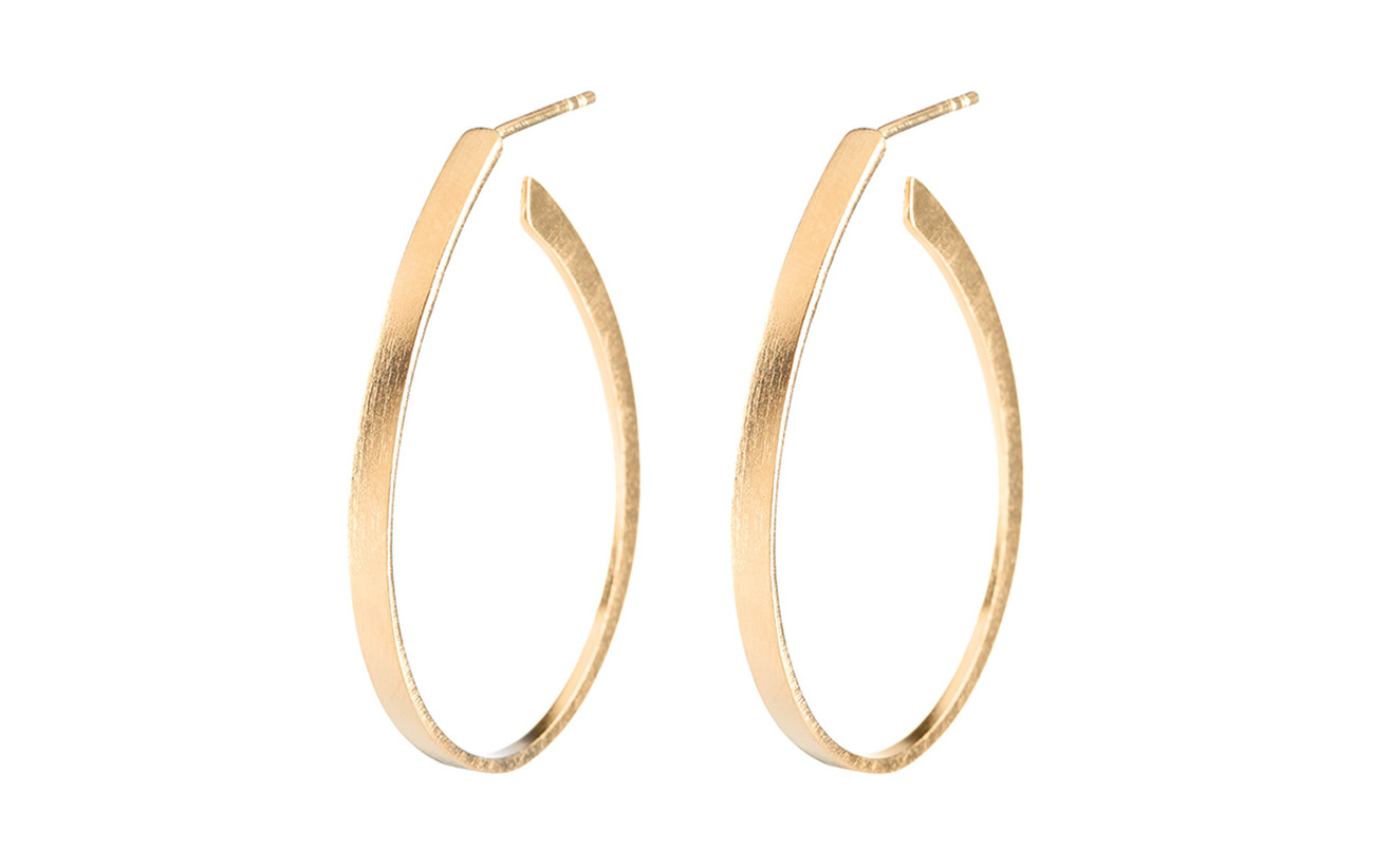 Pernille Corydon Oval Creoles  size 35 mm - GOLD PLATED