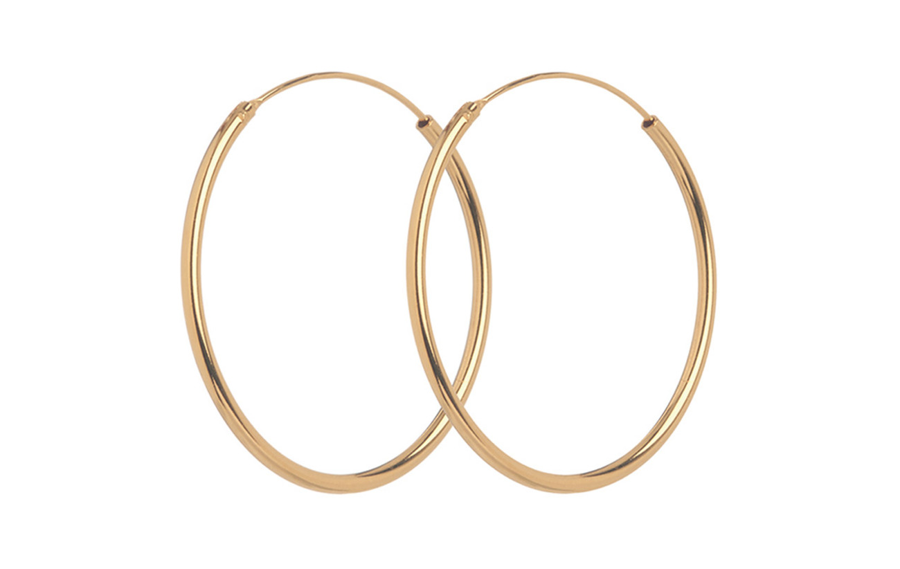 Pernille Corydon Mini Plain Hoops size 20 mm - GOLD PLATED