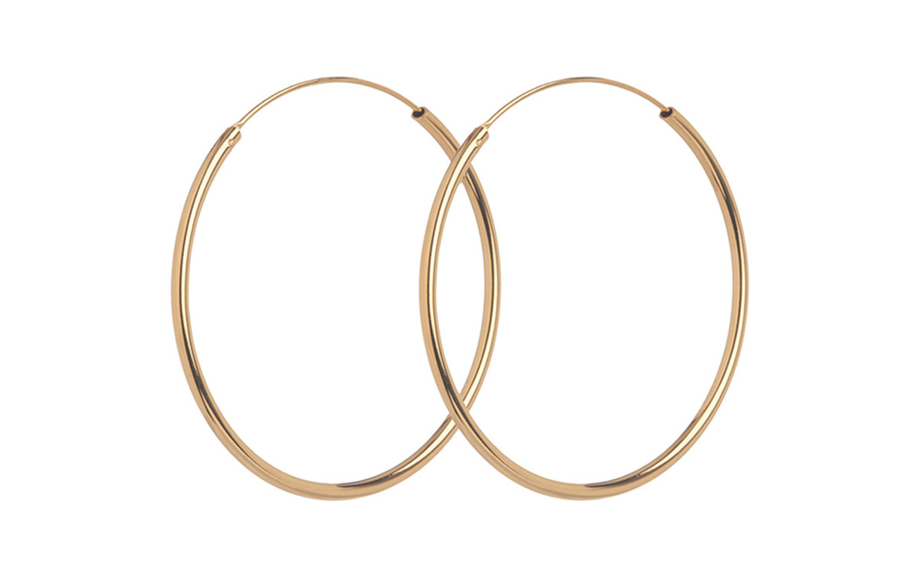 Pernille Corydon Midi Plain Hoop 40 mm - GOLD PLATED