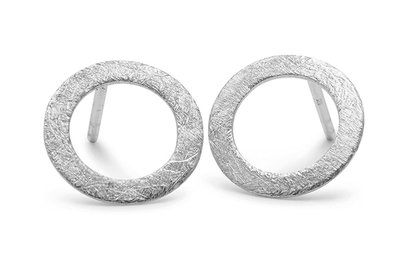 Pernille Corydon Small Open Coin Earsticks - SILVER