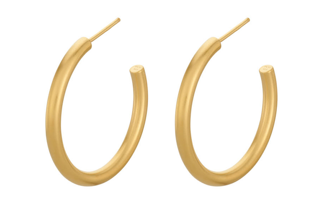 Pernille Corydon Gamma Hoops - GOLD PLATED
