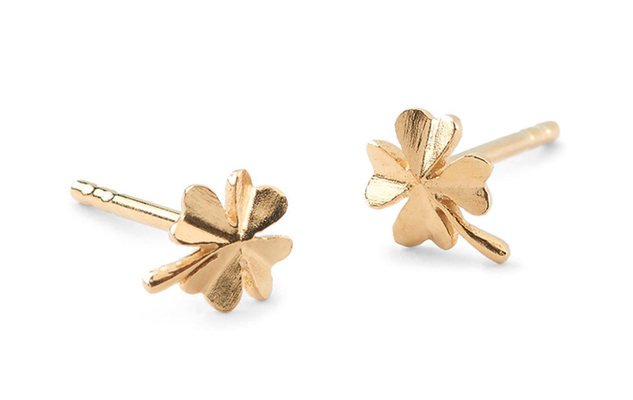 Pernille Corydon Clover Earsticks size 6 mm - GOLD PLATED
